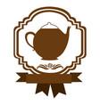 brown border heraldic decorative ribbon with vector image vector image