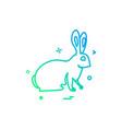 bunny easter paschal rabbit icon design vector image