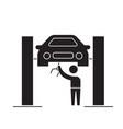 car service center black concept icon car vector image vector image