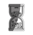 Coins in time hourglass vector image vector image