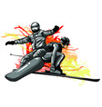 collection sport snowboard skiers vector image vector image