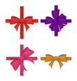 colorful ribbon with bow set tape decor for vector image