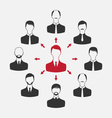 concept of leadership community business people - vector image vector image