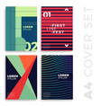 covers modern abstract design templates set vector image vector image