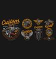 custom motorcycle vintage designs composition vector image vector image