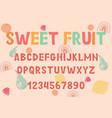 decoration font vector image