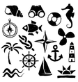 doodle marine images vector image