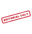 Editorial Only Text Rubber Stamp vector image vector image