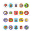 Education Colored Icons 13 vector image