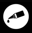 eye drop icon design vector image
