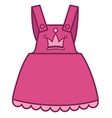 fashionable pink dress for girls clothes for vector image