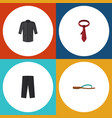 flat icon clothes set of pants beach sandal vector image vector image