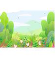 floral border and spring landscape vector image vector image