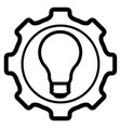 gear piece with lightbulb icon vector image vector image