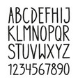 hand drawn hipster vintage letters vector image