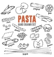 Hand drawn Italian pasta set Collection of vector image vector image