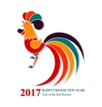 Happy Chinese New Year of the Fire Rooster 2017 vector image vector image