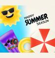 happy summer season vector image