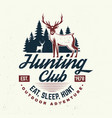 hunting club eat sleep hunt concept vector image vector image