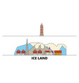 iceland flat landmarks vector image vector image