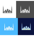 icon of sheikh zayed mosque vector image