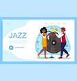 jazz band performance in nightclub concept vector image