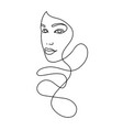 line drawing a beautiful woman 13 vector image vector image