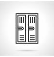Locker black line icon vector image vector image