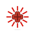 Logo Red Medical icon design perfect vector image vector image
