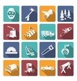 Lumberjack Woodcutter Icons vector image vector image