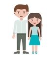 man and little girl embraced vector image