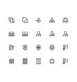 material properties icon set in thin line style vector image
