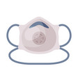 medical mask safety breathing protection vector image