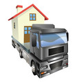 moving house truck concept vector image vector image