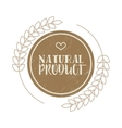 Natural product brown label in vintage style vector image