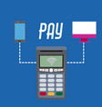 nfc technology payment vector image vector image