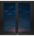 Night Sky Hand Drawn Watercolor Background vector image