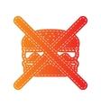 No burger sign Orange applique isolated vector image vector image
