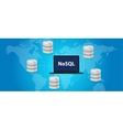 NoSQL non relational database concept world wide vector image