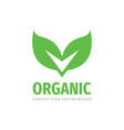 organic product icon logo design vector image