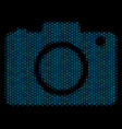 photo camera composition icon of halftone bubbles vector image vector image