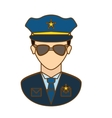 police officer icon image design vector image vector image