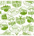 premium quality eco vegan stamp logo product mark vector image vector image