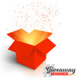 red gift box isolated on white background vector image vector image