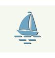 sailboat yacht vector image