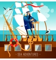 Sea Adventures Cartoon vector image vector image