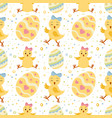 seamless pattern wirh ornate easter eggs vector image vector image
