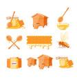 Set elements honey concept