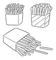set french fries vector image vector image