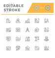 set line icons architecture vector image vector image